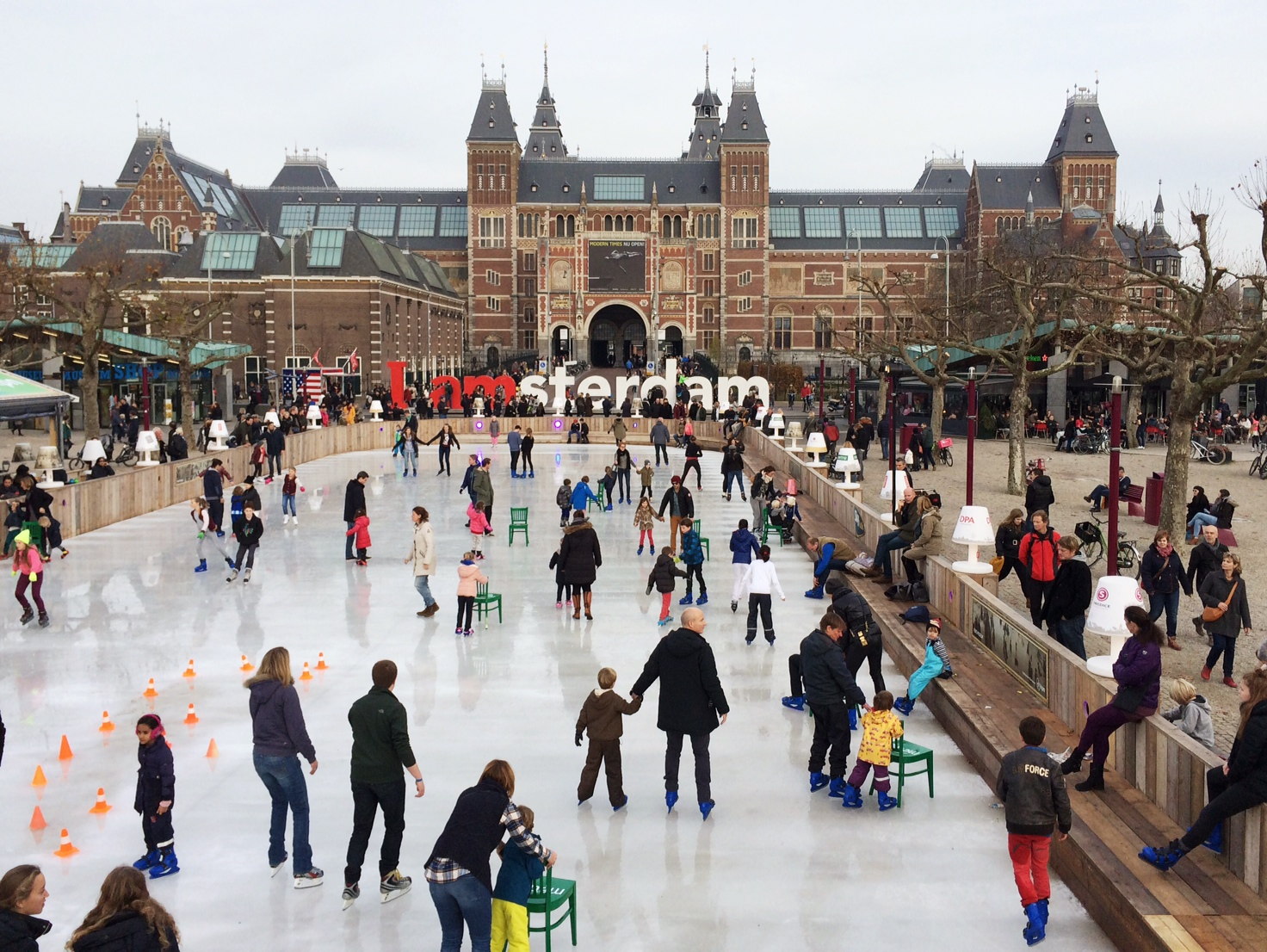 Winterse zondagmiddag Amsterdam
