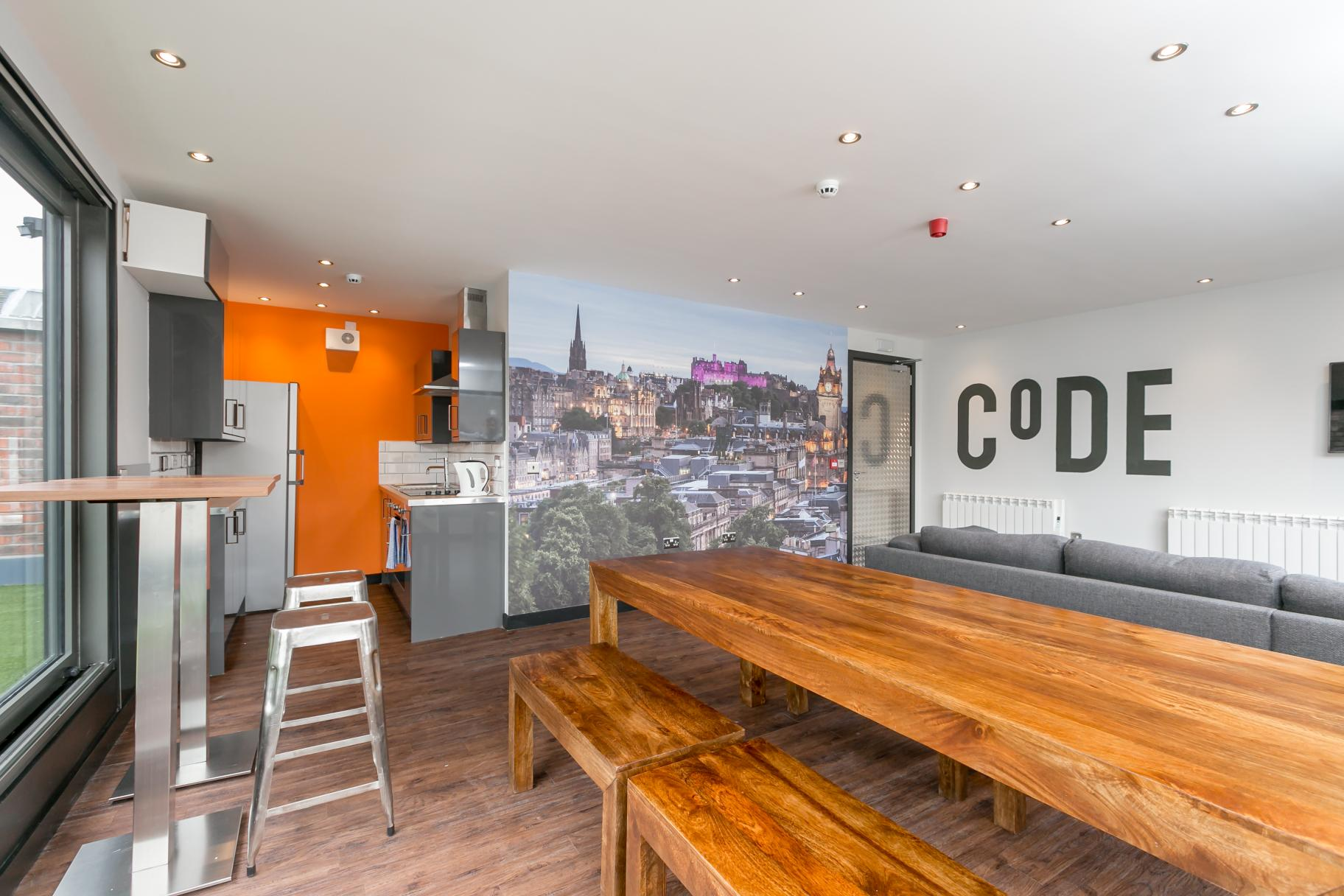 the CODE Hostel Edinburgh