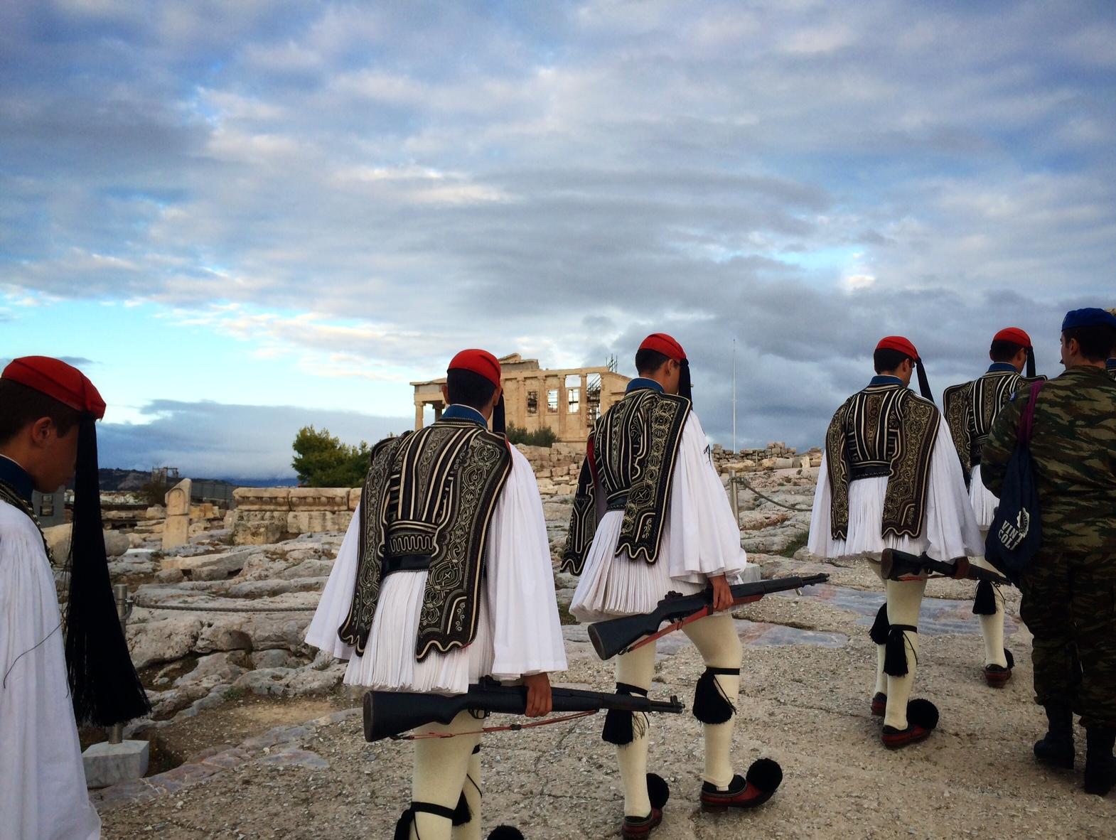 Vlagceremonie Akropolis Athene